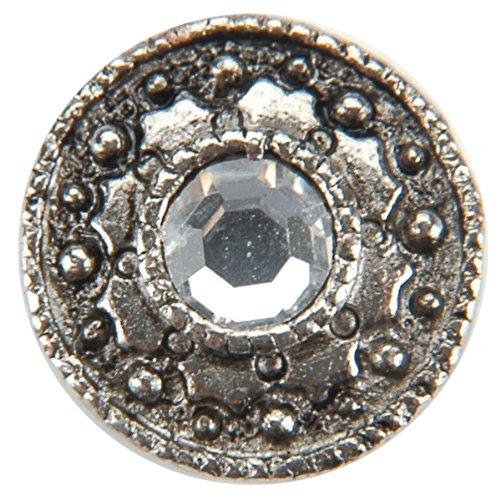 Metal Slider Bead w/Swarovski Crystal - 10PK/Cryst ()