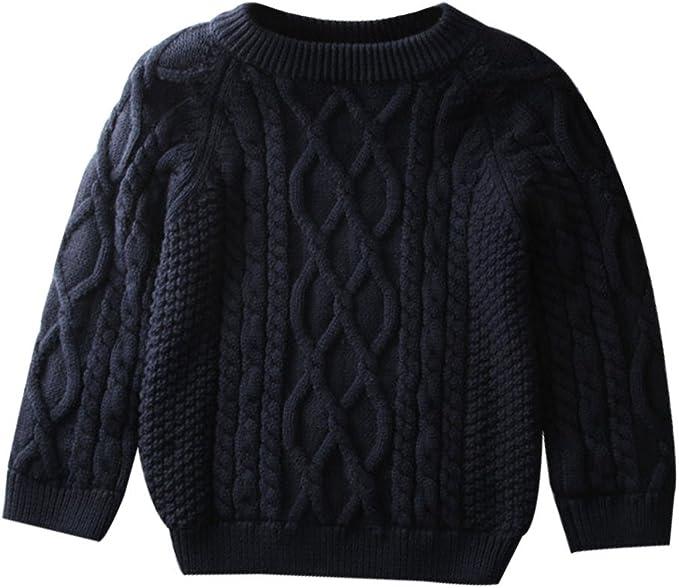 Kids Baby Boy Casual Pullover Round Neck Long Sleeve Tops Warm Button Sweatshirt