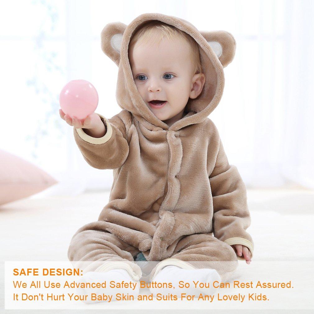 f4a3f17fd5db Amazon.com  MICHLEY Baby Girls Boys Romper Bear Style Jumpsuit ...