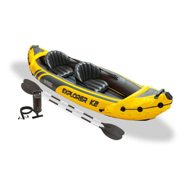 INTEX Explorer K2 - Kayak Inflable para 2 Personas con remos ...