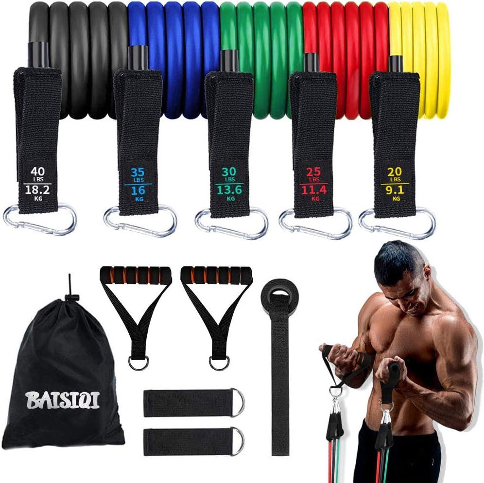 BAISIQI Bandas Elasticas Musculacion 11 PCS Bandas de ...