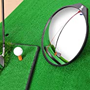 Walmeck Wide Angle Golf Convex Mirror for Swing and Putting Golf Training Aid