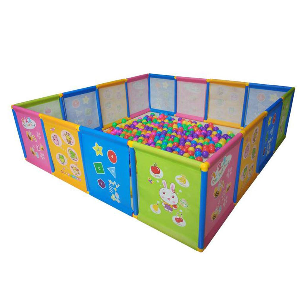 Portable Baby Playpen Playground Color Panel Breathable Oxford Suitable for Children Aged 0-6 Indoor and Outdoor Washable by ZHUIL-Baby playpens (Image #1)