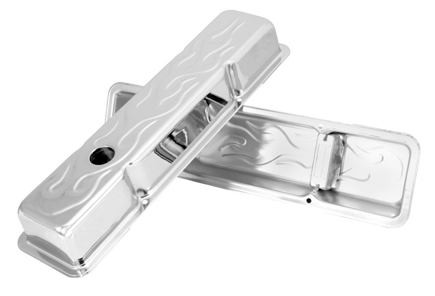 Spectre Performance 52181 Chrome Short Valve Cover for Small Block Chevy