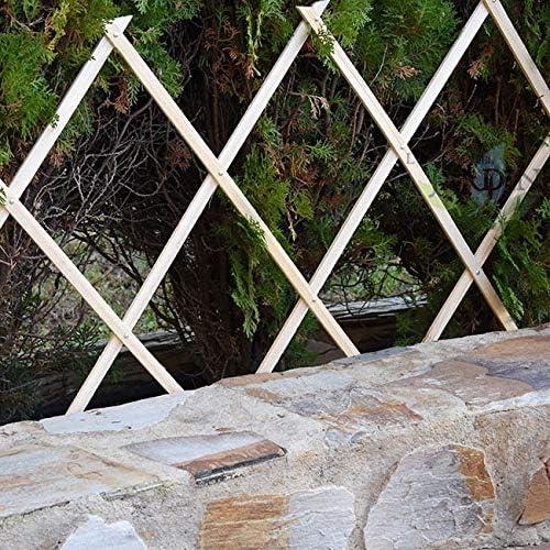 Celosía de Madera para jardín. Seto artificial extensible. (60 x ...