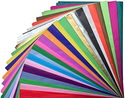 10 COLOURS SUPER BRIGHT TISSUE PAPER PACK 20 SHEETS