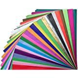 Tissue Paper Gift Wrap - Bulk Wrapping 100 200 300 or 500 Sheets 15 x 20 Assorted Black Blue Fuchsia Gold Green Orange Pink P