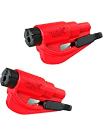 Resqme The Original Keychain Car Escape Tool, Made in USA, Red, Pack of 2
