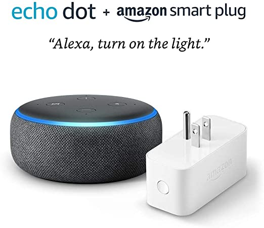 Echo Dot 3rd Gen bundle with Amazon Smart Plug  Charcoal at Kapruka Online for specialGifts