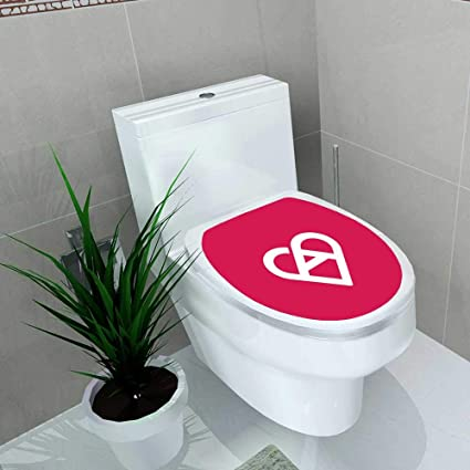 amazon com bathroom toilet seat sticker decal letter a heart logo
