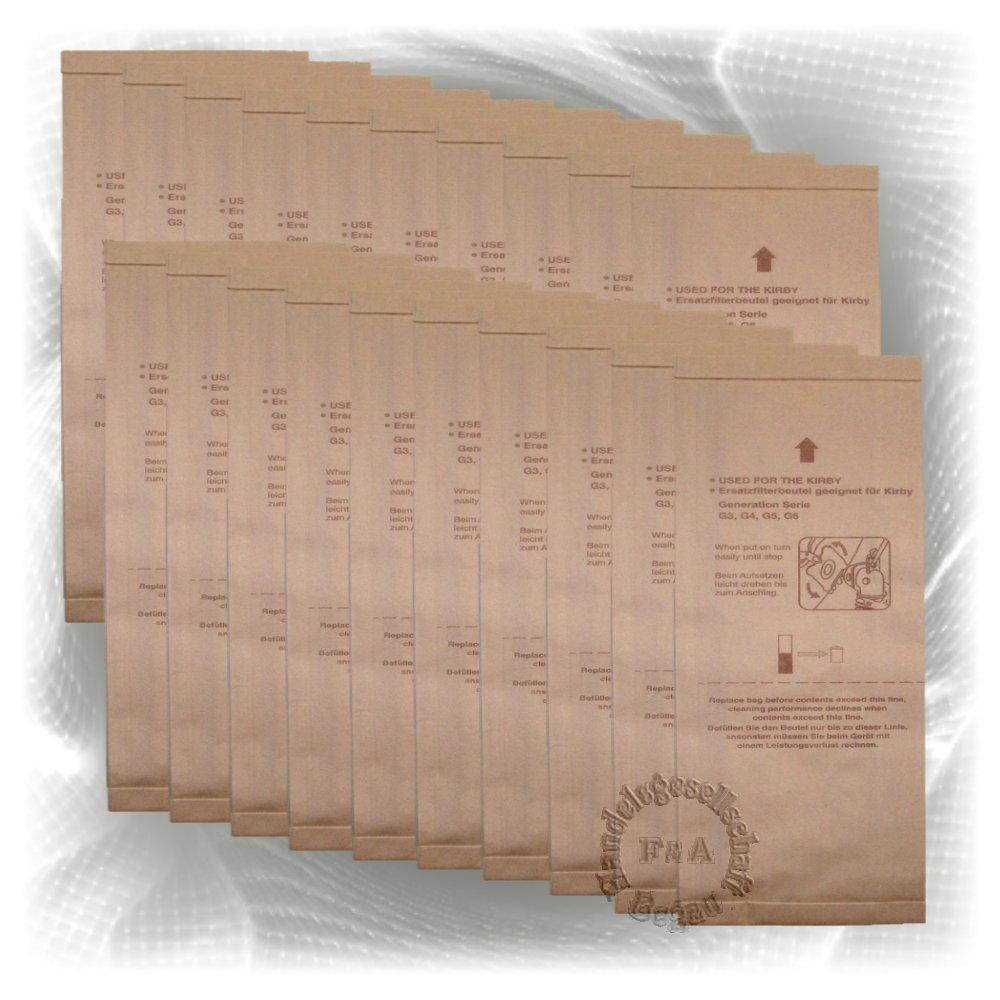 Bolsas - 20 pack - para aspiradoras Kirby G3 G4 G5 G6 G7 G8 G10 Handelsgesellschaft Begau