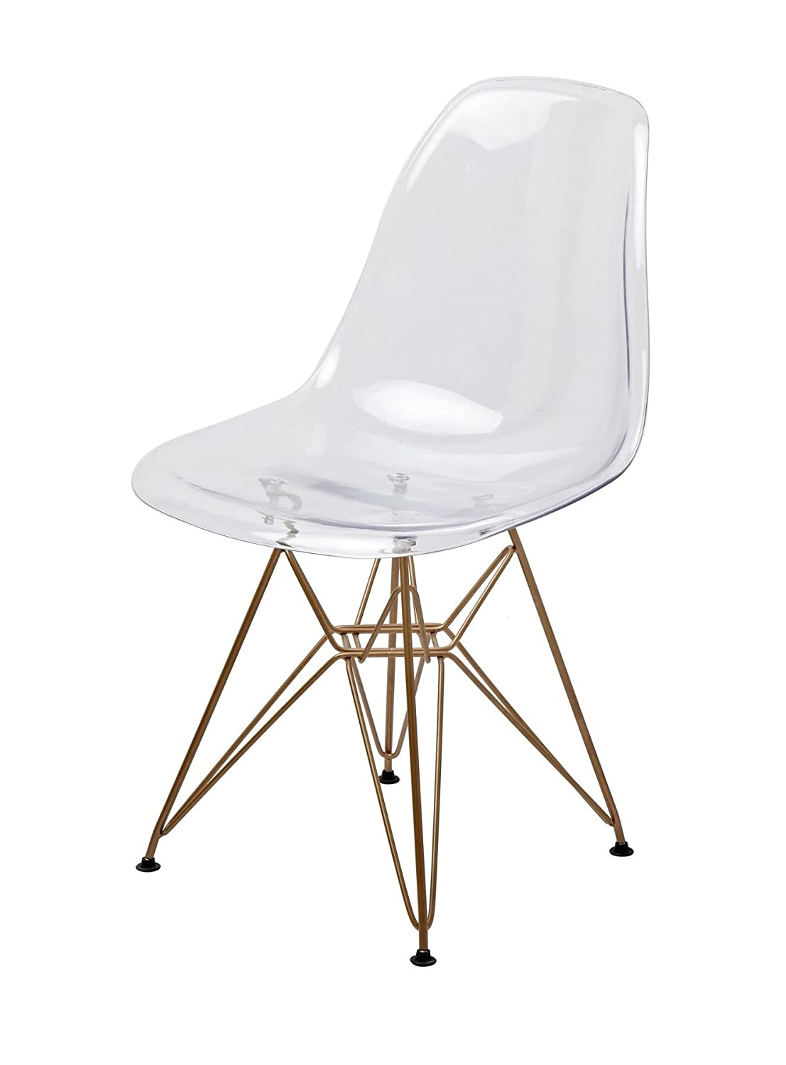 Magnificent Amazon Com Mid Century Modern Eames Style Dsr Clear Side Machost Co Dining Chair Design Ideas Machostcouk