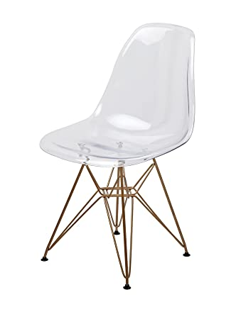 Superb Amazon Com Mid Century Modern Eames Style Dsr Clear Side Ocoug Best Dining Table And Chair Ideas Images Ocougorg