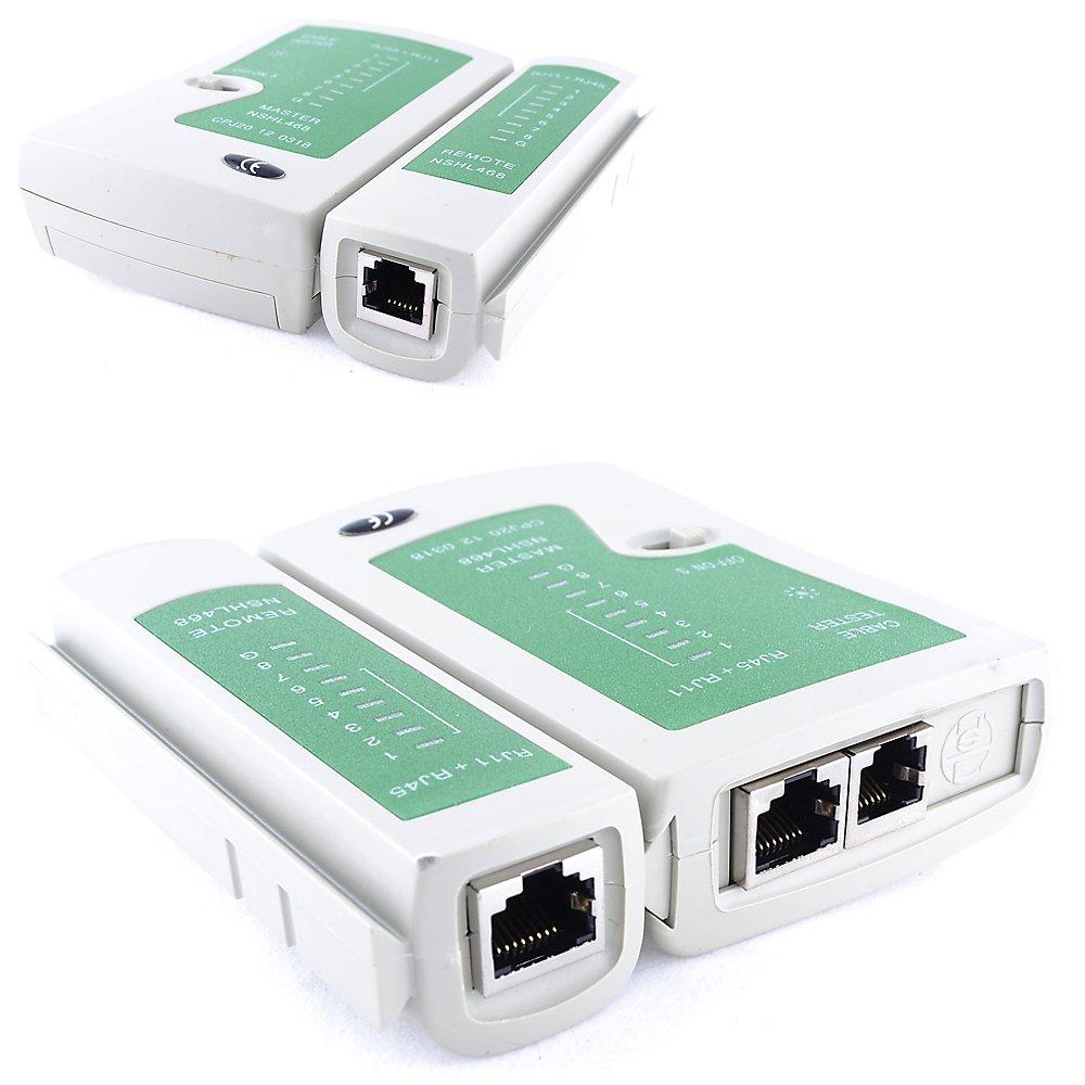 Funda T/éster Comprobador de Red Cable LAN RJ45 RJ11 RJ12 Cat5e