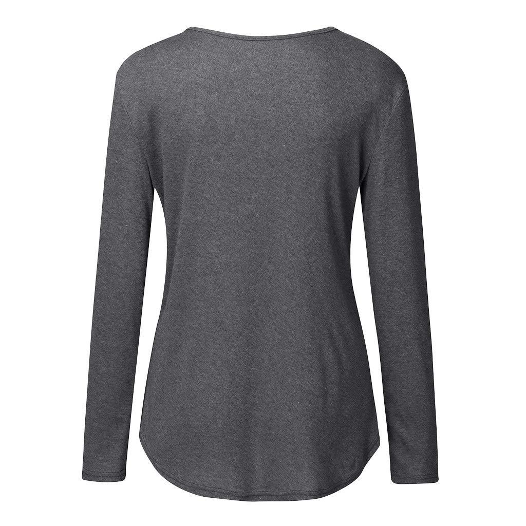 Y56 Grossesse Femmes Automne Hiver Allaitement /À Manches Longues Hauts T-Shirt De Maternit/é Casual L/âche Patchwork Tunique Blouse Chemise