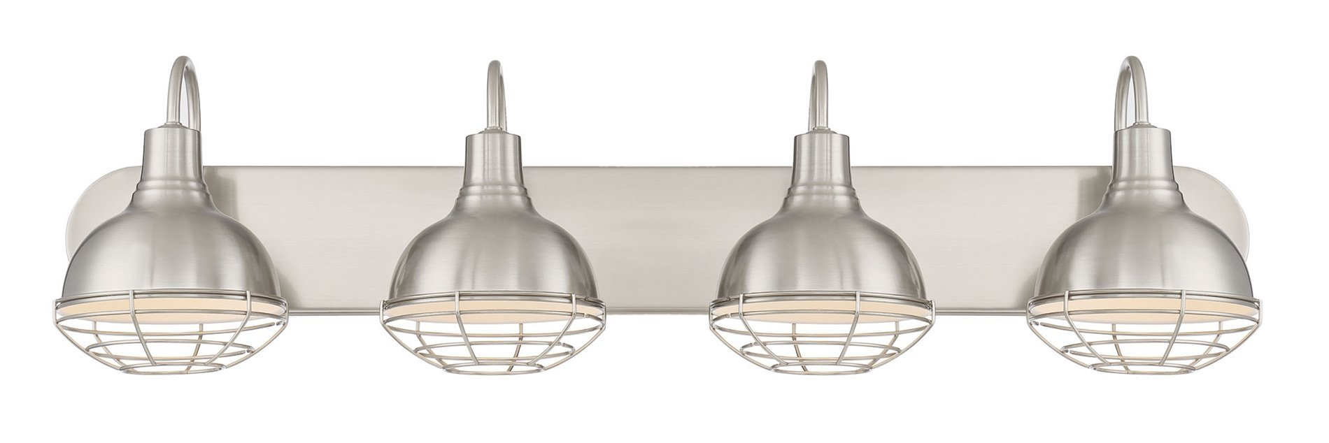 Revel Liberty 36'' 4-Light Industrial Vanity/Bathroom Light, Brushed Nickel Finish