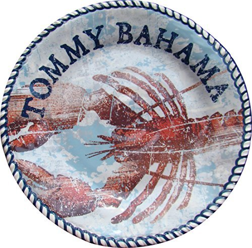 Tommy Bahama Melamine Lobster Blue Dinner Plates - Set of 4 - Approx. 10 (Quart Flat Sided Stainless Steel)