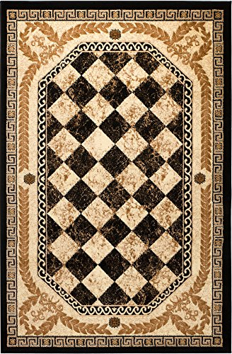 (Summit 2S-3FG0-Q2RI New 033 Area Rug Black Diamond Modern Abstract Many Aprx Sizes Available (22'' X 7 Foot Runner))