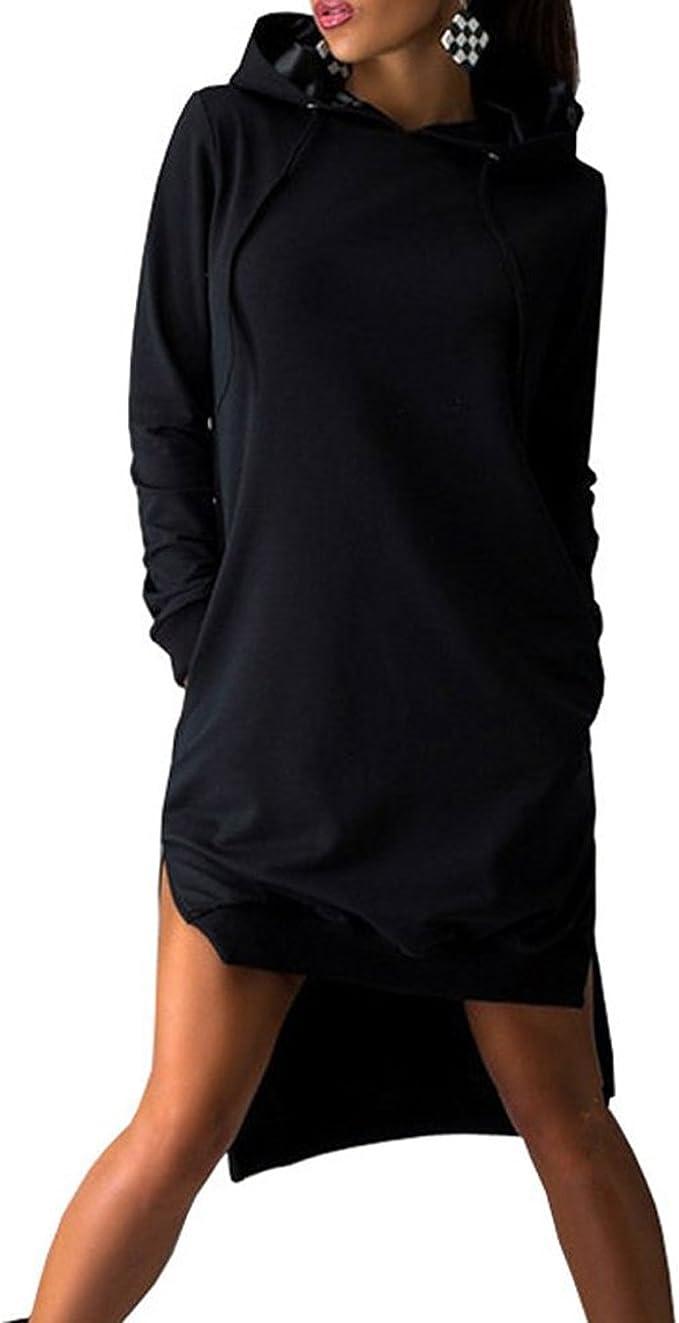 Smallwin Mens Autumn Activewear Hooded Contrast Color Long Sleeve Pocket Sweatshirts