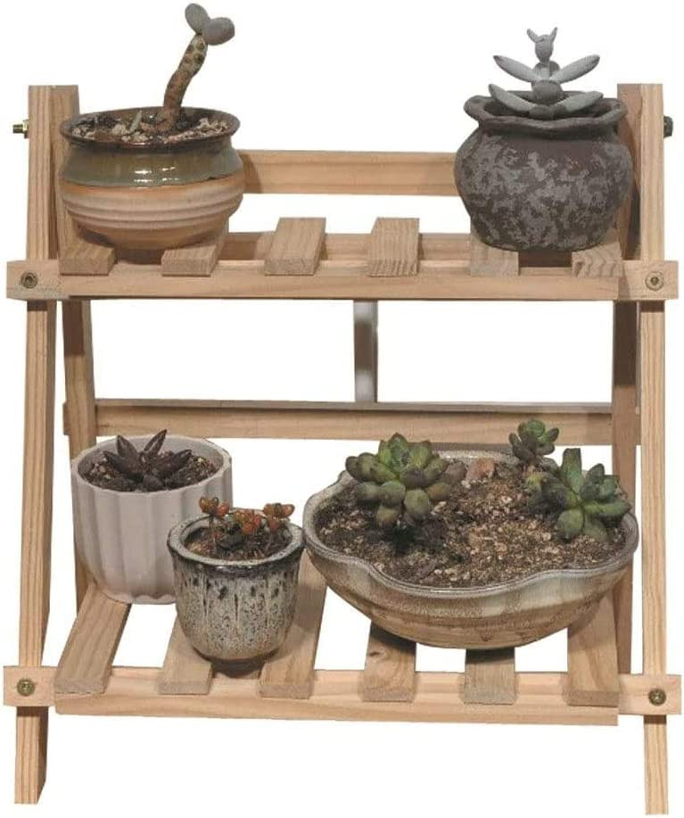 Small Tiered Plant Stand Planter Stand Wooden Office Desktop Plant Stand Flower Stand Plant Stand Indoor 13.77inch high, 13.77inch Long, 6.77inch Wide[Does Not Contain Plants and Flower Pots]