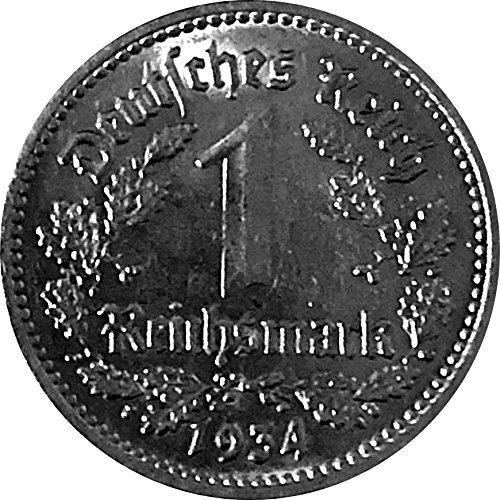 Münzen 1 Reichsmark Deutschland 1934 F Jäger 354 Vorzüglich