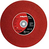 """Hilti 436732 AC-D DS Drywall Metal Stud Cutting Disc for Chop Saw with 1"""" Arbor, 14"""" (Pack of 10)"""