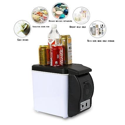DJEIDK 6 litros (AC/DC)Refrigerador de coche12V nevera camping ...