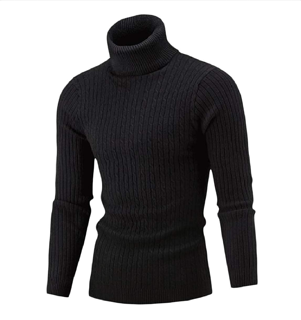 Abetteric Mens Warm Fall Winter Knit Regular Slim Fitted Sweater Pullover