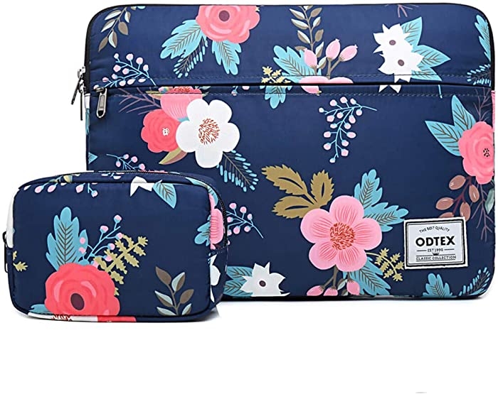 ODTEX 13 Inch Laptop Sleeve Bag Water-Resistant Protective Case Bag Compatible with MacBook Pro Mac Air Dell Inspiron Surface Book Chromebook Notebook