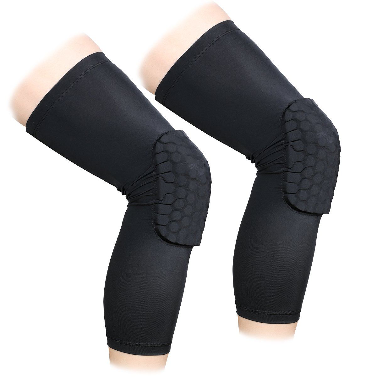 V/êtements de compression de protection 1 paire Hommes et femmes Support de basket-ball Contact Sports ANZOME 2 Packs Best to Immobilized Football Strap /& Wrap Knee for Volleyball