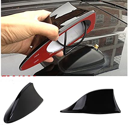 Benjoy Car Shark Fin Roof Antenna Radio FM/AM Car Accessories Decorate  Black for Hyundai I-20 Sports