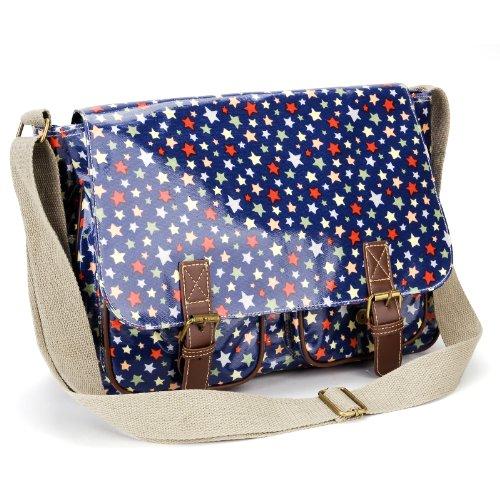 Blue Oilcloth Bag - 8