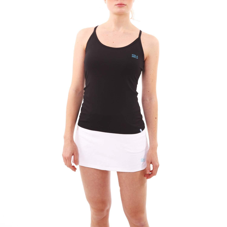 Sportkind Mädchen & Damen Tennis, Fitness, Yoga Spaghetti Tanktop
