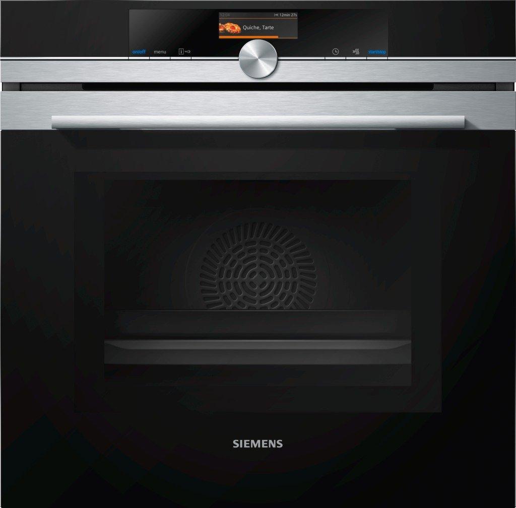 Siemens iQ700 Einbau-Elektro-Backofen mit Mikrowelle HM636GNS1 / Edelstahl / A+ / varioSpeed / coolStart-kein Vorheizen / cookControl Plus vollautomatisches Braten