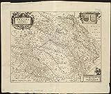 Historic Map | 1645 Dioecese de Rheims, et le paiIˆs de Rethel | Antique Vintage Reproduction