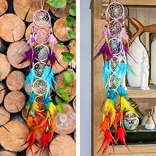 H&D Chakra Dream Catcher Chandelier Prisms Suncatcher Handmade Rainbow Fengshui Pendant (Style-5) by H&D (Image #3)