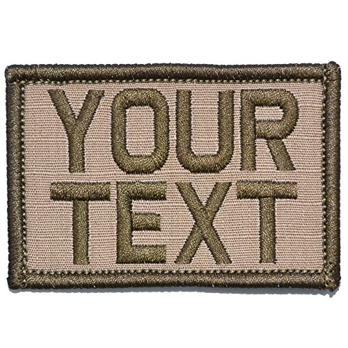 (Customizable Text Patch - 2x3 Morale Patch - Coyote Brown)