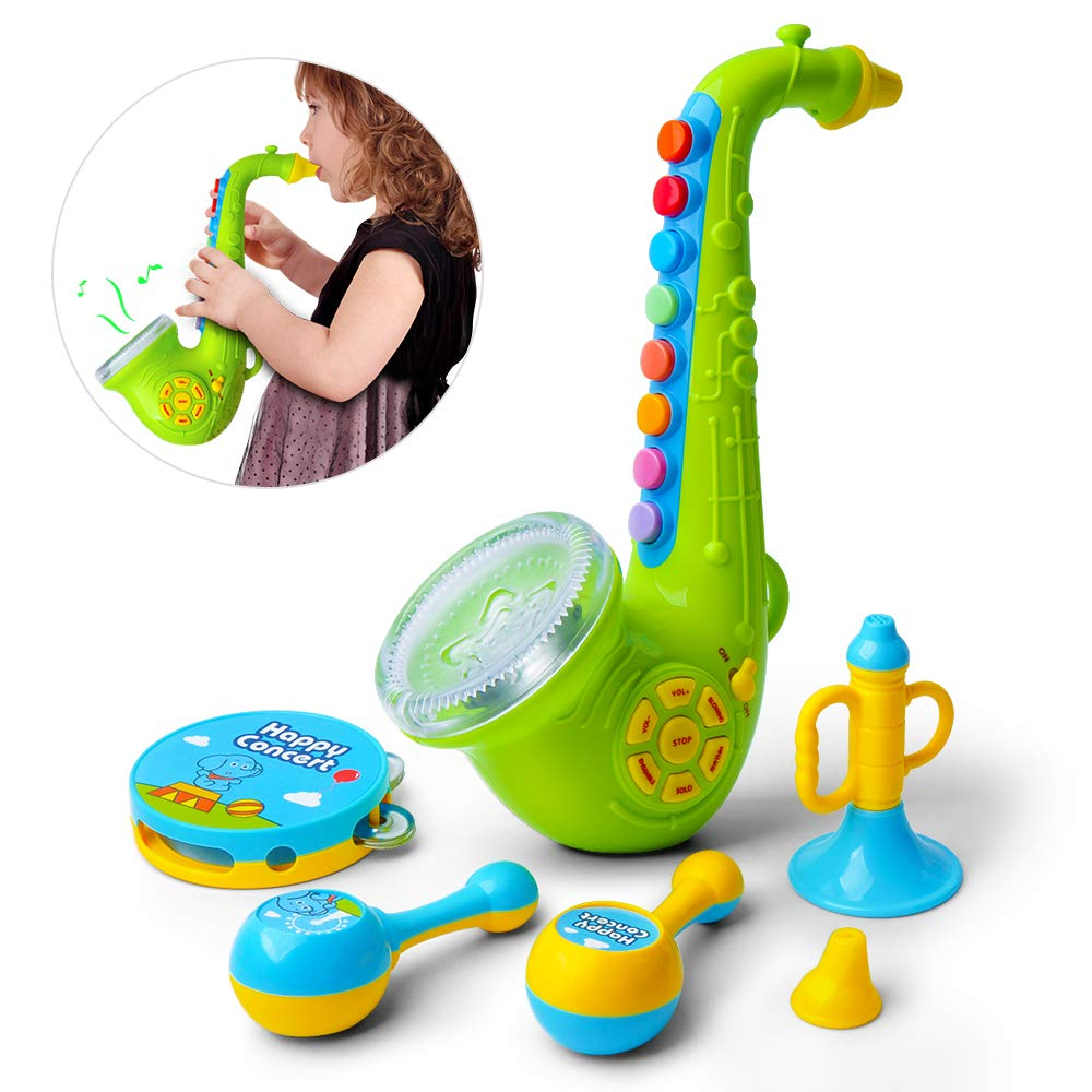 Gizmovine Kid Toys Baby Musical Toys Saxophone Drums Musical Instruments Preschool Learning Toys for Toddler Girl Boy Toys