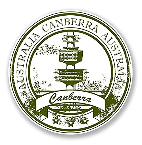 Canberra Australia WINDOW CLING STICKER Car Van Campervan Glass - Sticker Graphic - Auto, Wall, Laptop, Cell, Truck Sticker for Windows, Cars, - Glasses Canberra