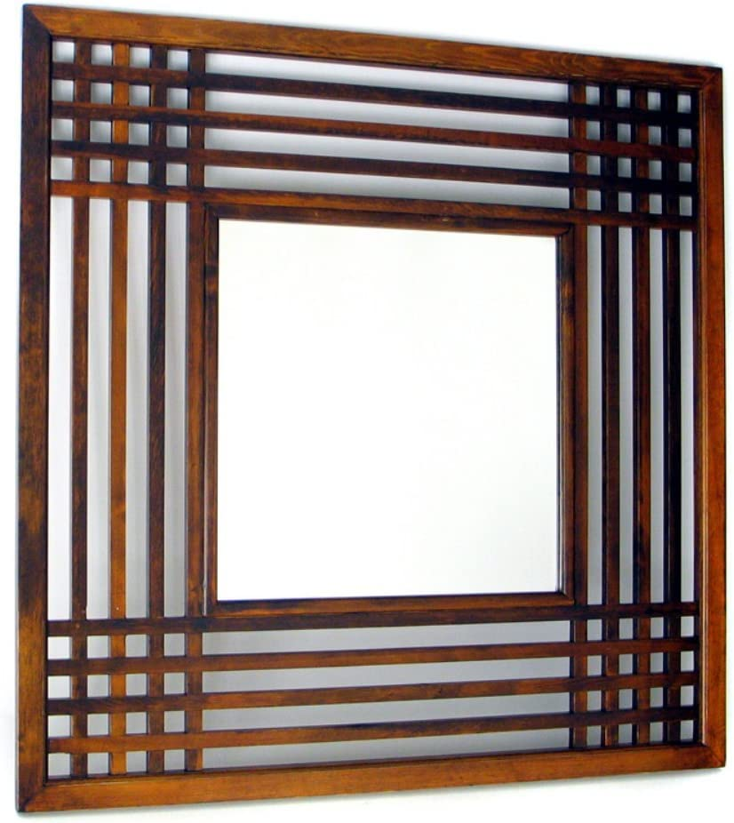 Wayborn Home Furnishing Plantation Mirror, Distressed Brown