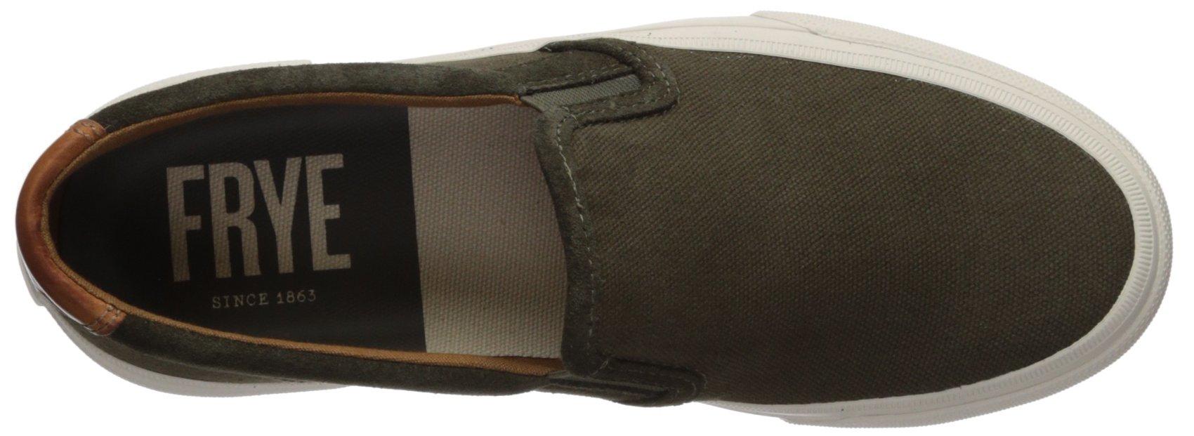 FRYE Men's Ludlow Slip ON Tennis Shoe Olive 9 M by FRYE (Image #7)