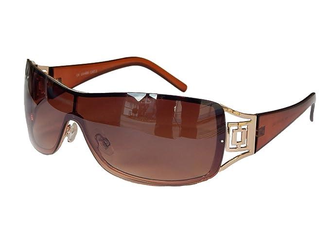 Sonnenbrille Damenbrille Schwarz Brille Monoglas Sportlicher Style Damen M 34 (Weiß Silber) o2NY24Z