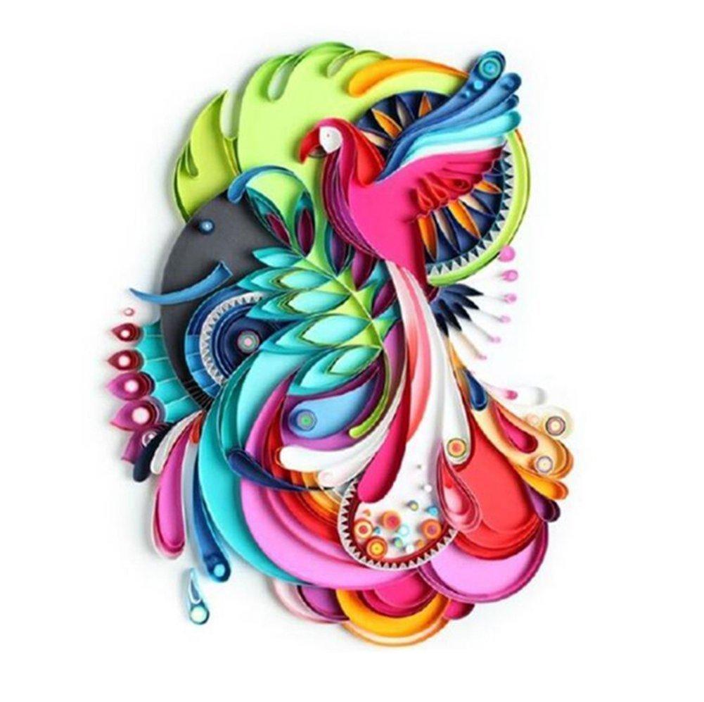 Ciaoed 720 pcs Paperolles für Quilling, Papier Quilling DIY Craft Kit, 36 Farben, Breite von 3mm 5mm 7mm 10mm Jede Größe 180 Stück und Länge von 54cm (doppelseitig) für Quilling für DIY Craft