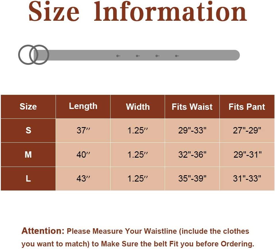 MHOMER Women Leather Belt Geniue Leather Cute Ladies Belt for Jeans Dress Pants with Fashion O-Ring Buckle