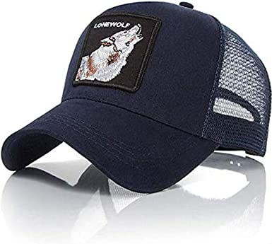 Gorra Visera Curva Trucker Animal Lobo Azul: Amazon.es: Ropa y ...