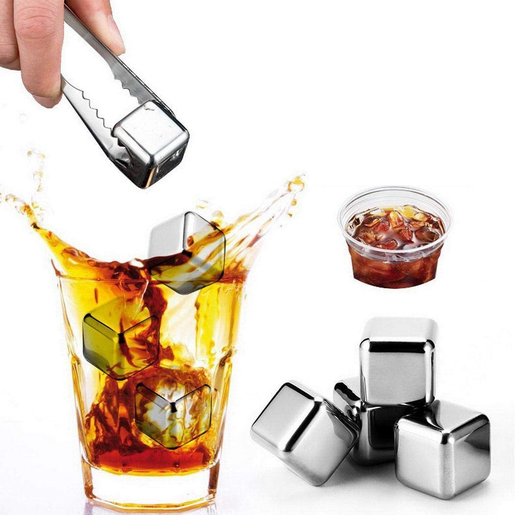 Lome123 Reusable Ice Cubes 304 Stainless Steel Ice Cubes