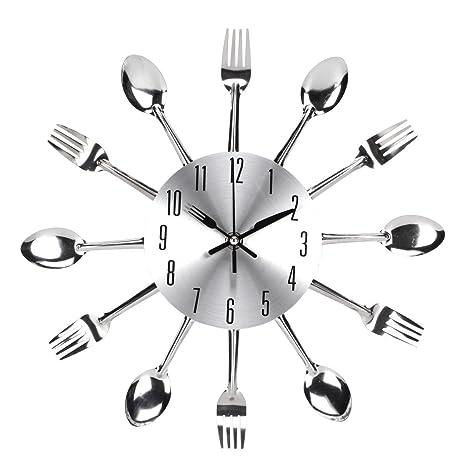UNIQUEBELLA posate orologio, orologio con posate, orologio da cucina ...