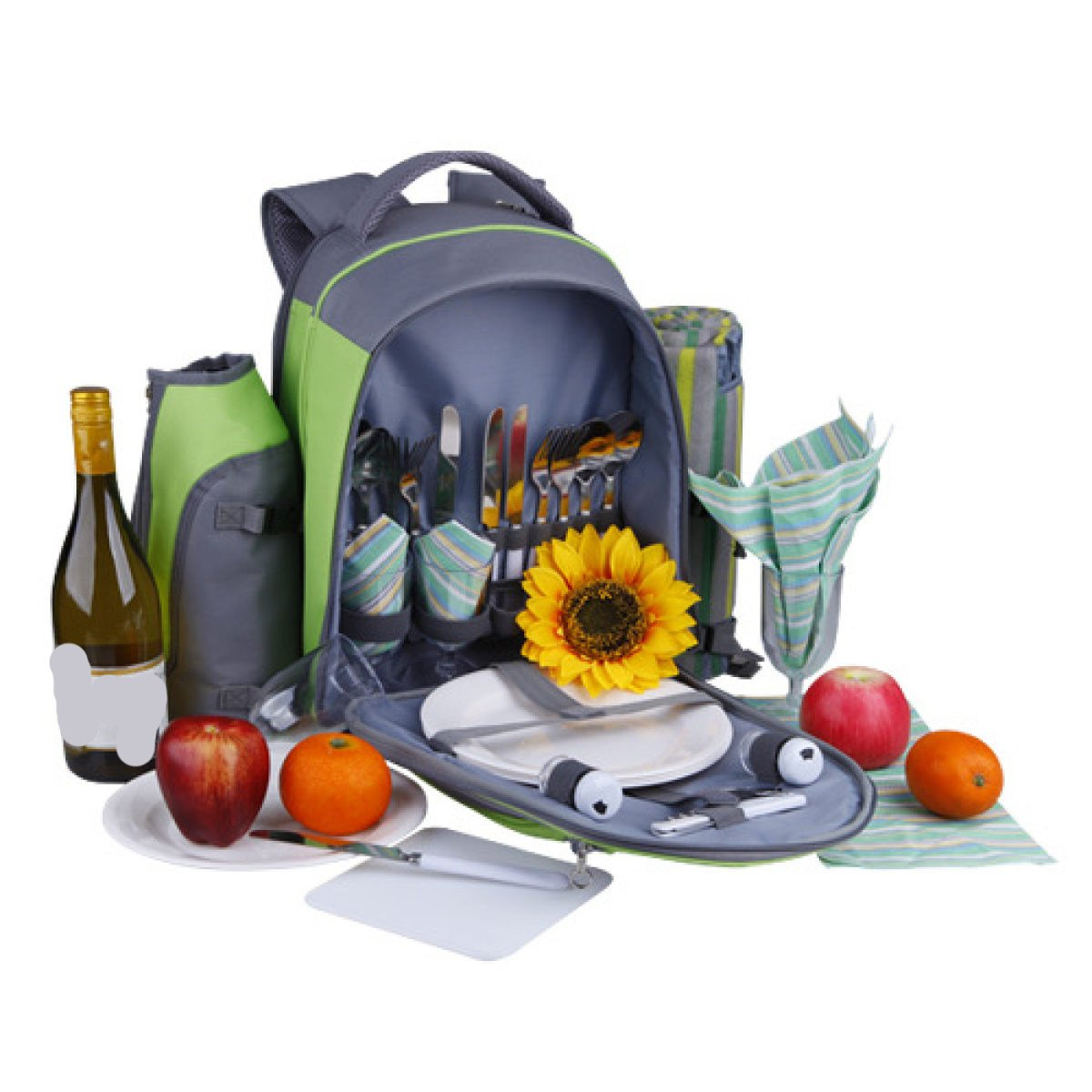 Outdoor-Schultertasche Camping Picknick-Taschen Geschirr Massennahrungsmittelbeutel Tragbarer Rucksack