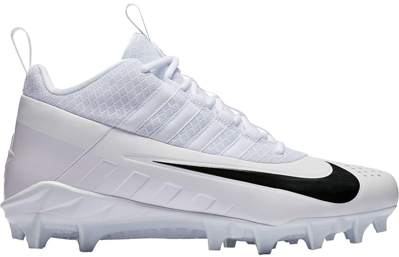 Nike Men's Alpha Huarache 6 Pro Lacrosse Cleat (10, White/Black)