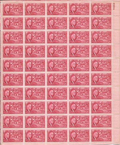 USPS Roosevelt - Warm Springs Sheet of Fifty 2 Cent Stamps Scott 931 (Spring Usp)